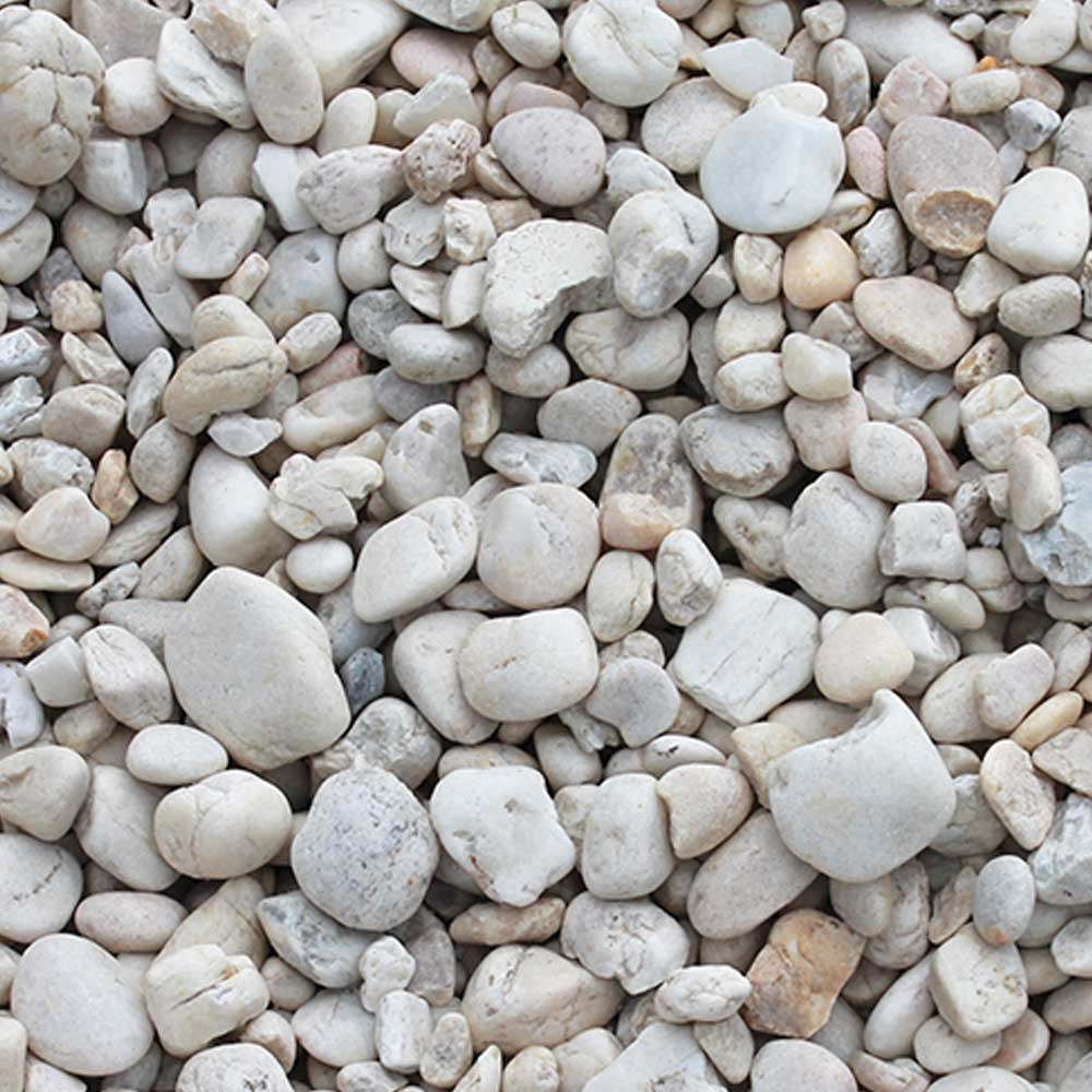 Pebble pixmatch search with picture application for White gravel landscaping